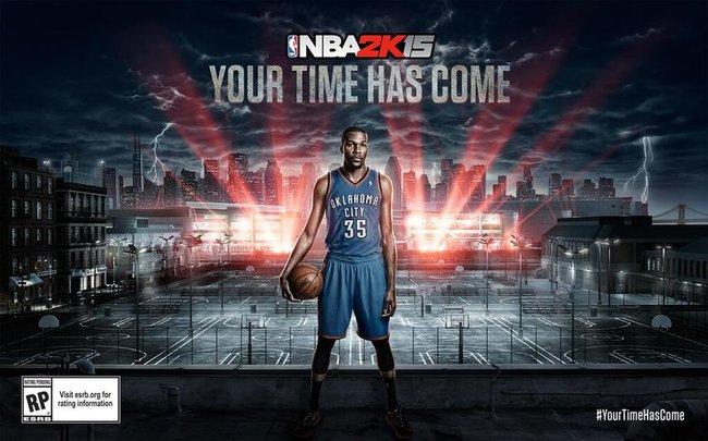 """NBA 2K15"" viršelyje – K.Durantas"